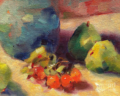 Poster featuring the painting Crab Apples And Pears by Michelle Abrams