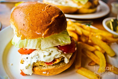 Crab Cake Sandwich Poster by Colleen Kammerer