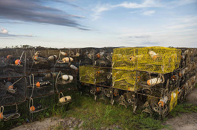 Poster featuring the photograph Crab Pots by Gregg Southard