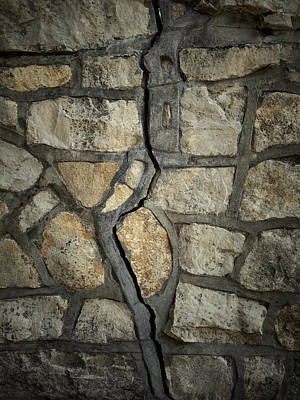 Cracked Wall Poster by Les Cunliffe