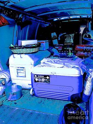 Crafty Van In Blue Poster