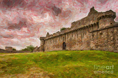 Craigmillar Castle Digital Painting Poster