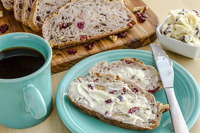 Cranberry Walnut Bread Poster by Teri Virbickis