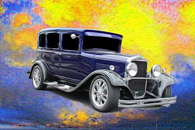 Vintage Cars Poster featuring the photograph Crank It  by Aaron Berg