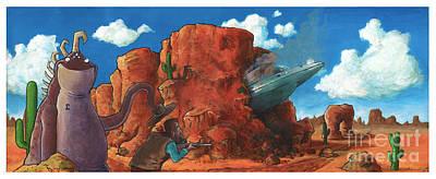 Crash Landing Poster by Richardson Comly