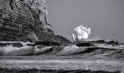 Crashing Waves At Cabrillo By Denise Dube Poster