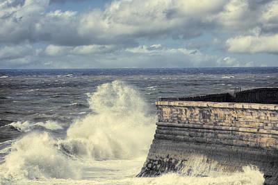 Crashing Waves Poster by Amanda Elwell