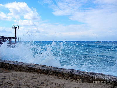 Poster featuring the photograph Crashing Waves In Cozumel by Debra Martz