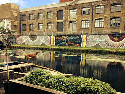 Crate Brewery Canal Side River Lea Poster by David French
