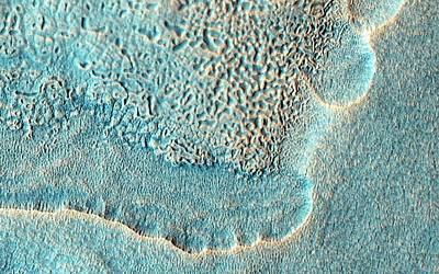 Crater Ejecta On Mars Poster