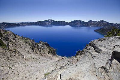 Poster featuring the photograph Crater Lake by David Millenheft