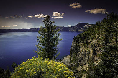 Crater Lake Poster by Jean-Jacques Thebault