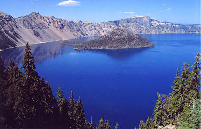 Poster featuring the photograph Crater Lake Oregon by Mary Bedy