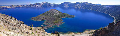 Poster featuring the photograph Crater Lake Panorama 090914a by Todd Kreuter