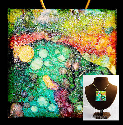Crater Mountain Necklace Poster by Alene Sirott-Cope