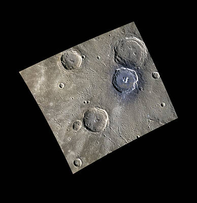 Craters On Mercury Poster by Nasa/johns Hopkins University Applied Physics Laboratory/carnegie Institution Of Washington