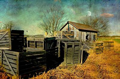 Crates'n Cabin Poster by Diana Angstadt