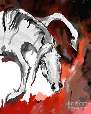Crazy Horse 7 Poster by Angel  Tarantella