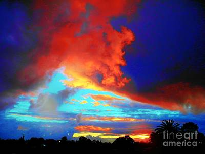 Poster featuring the photograph Strange Sunset by Mark Blauhoefer