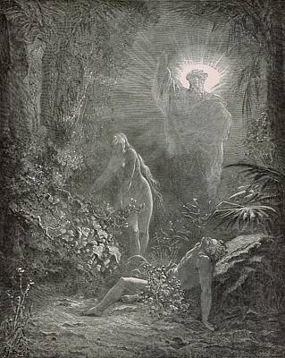 Creation Of Eve Poster by Antique Engravings