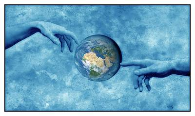 Creation Of The Earth Poster by Detlev Van Ravenswaay