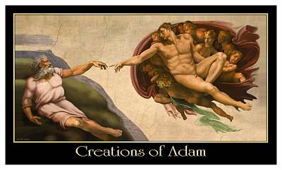 Creations Of Adam Poster by Scott Ross