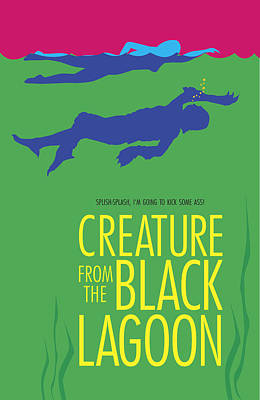 Creature From The Black Lagoon Poster by Ron Regalado