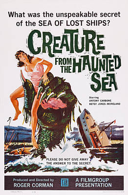 Creature From The Haunted Sea, Us Poster by Everett