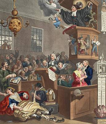 Credulity, Superstition And Fanaticism Poster by William Hogarth