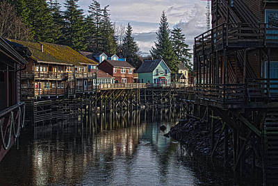 Creek St. Ketchikan Alaska Poster by Timothy Latta