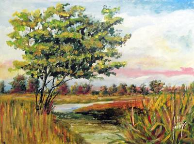 Crepe Myrtle In The Wetlands Poster