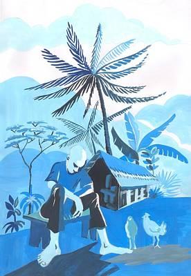 Crepuscule De Ma Cambuse Poster by Emmanuel Baliyanga