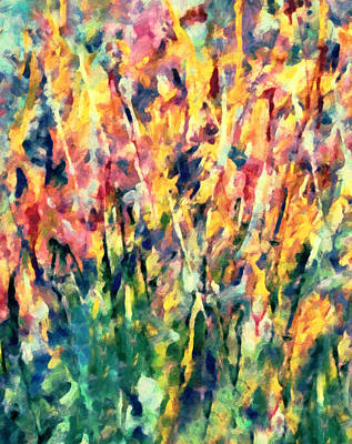 Crescendo Of Spring Abstract Poster