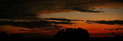 Crescent At Sunset Poster