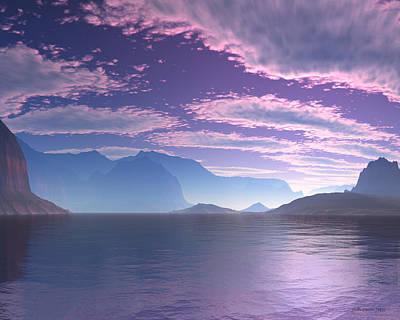 Crescent Bay Alien Landscape Poster