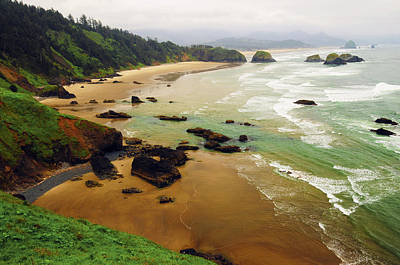 Crescent Beach From Ecola State Park Poster