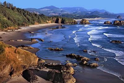 Crescent Beach Oregon Poster by Matthew Ahola
