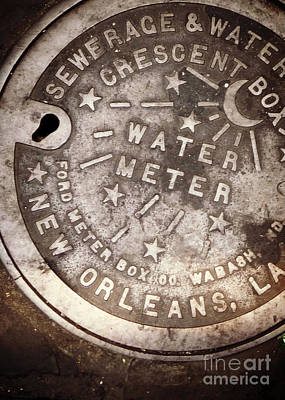 Crescent City Water Meter Poster by Valerie Reeves
