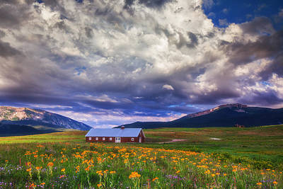 Crested Butte Morning Storm Poster