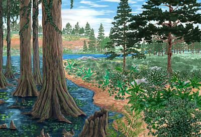 Cretaceous Landscape Poster by Chris Butler