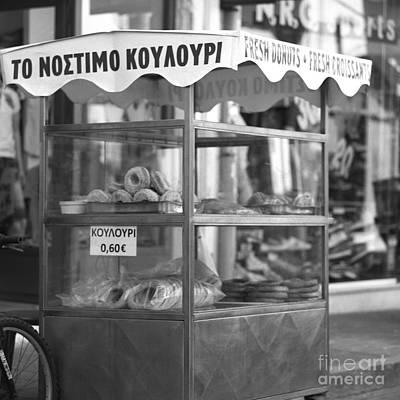 Cretan Koulouri Stand Poster by Paul Cowan