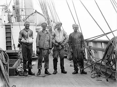Crew Members On Terra Nova Poster by Scott Polar Research Institute