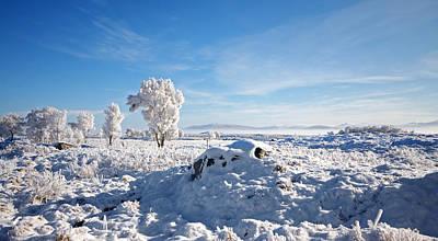 Crianlarich - Sunlit Snow Poster by Pat Speirs