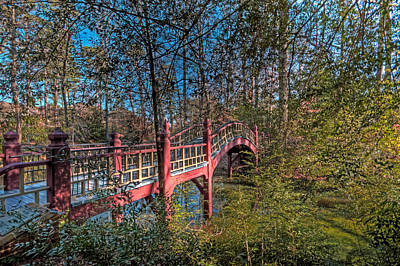Poster featuring the photograph Crim Dell Bridge by Jerry Gammon