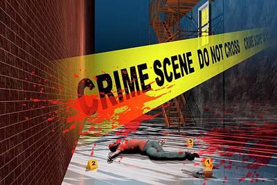 Crime Scene Poster by Carol & Mike Werner