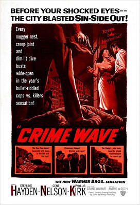 Crime Wave, Aka The City Is Dark, Us Poster by Everett