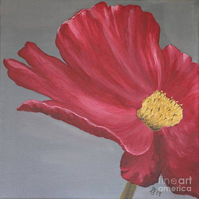Crimson Red Garden Cosmos Poster by Christiane Schulze Art And Photography
