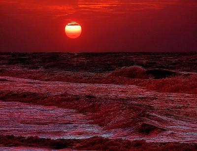 Crimson Tide Sunrise Poster by Michael Thomas