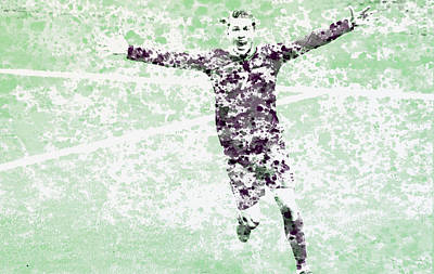 Cristiano Ronaldo Celebration Poster by Brian Reaves