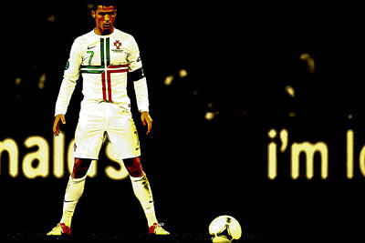 Cristiano Ronaldo Focus Poster by Brian Reaves